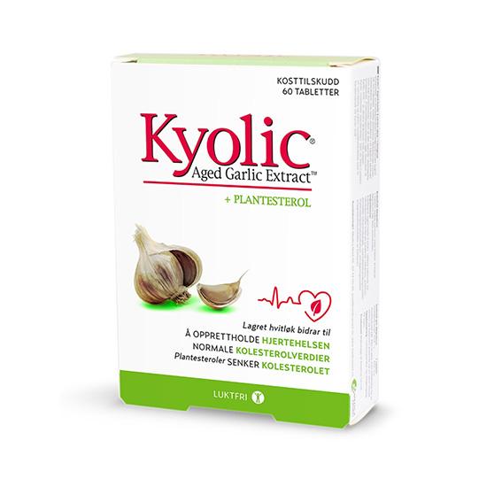 Kyolic hvitløksekstrakt + plantesterol 60 kap