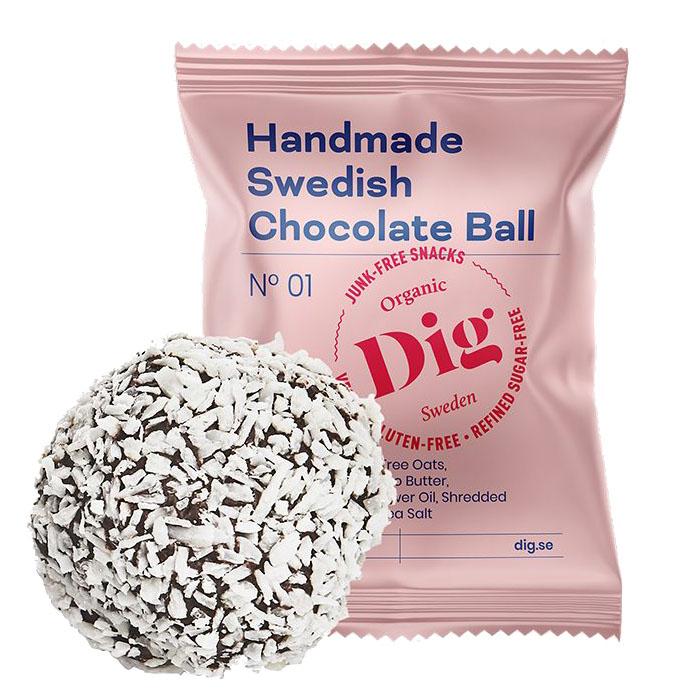 Dig sjokoladeball 25 gr øko