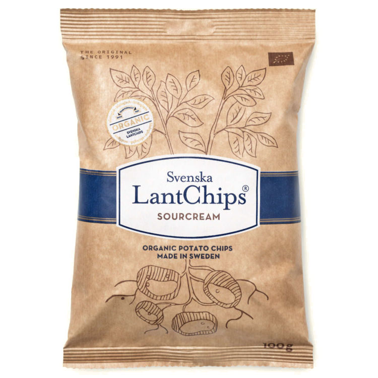Svenska Lantchips chips sourcream 100 gr øko