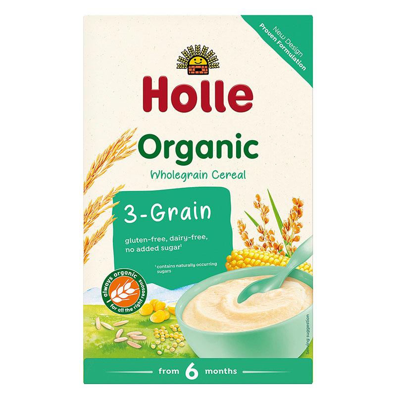 Holle 3-kornsgrøt instant 250 gr