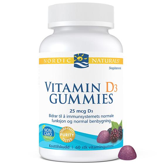 Nordic Naturals vitamin D3 wildberry 60 gummies