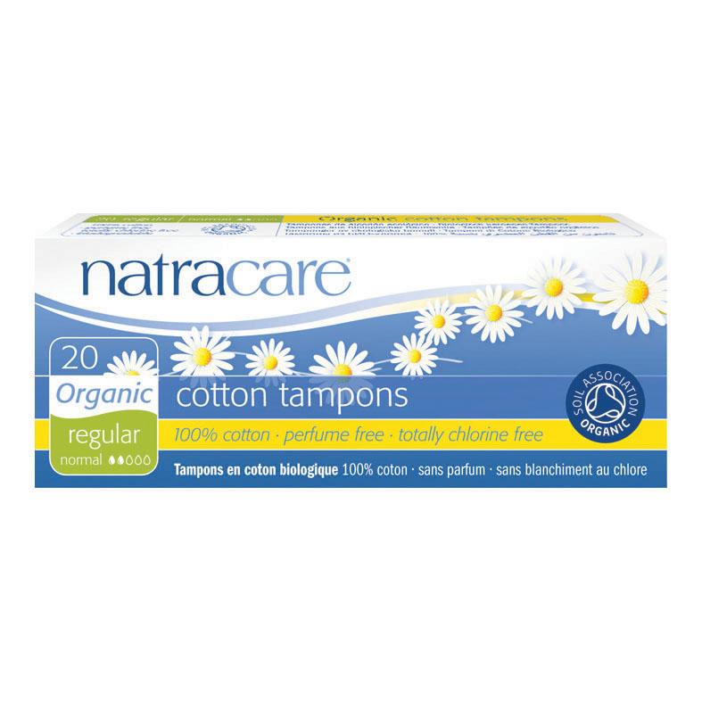 Natracare 1000 cotton tampons regular 20 stk