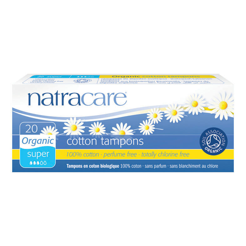 Natracare 2000 cotton tampons super 20 stk