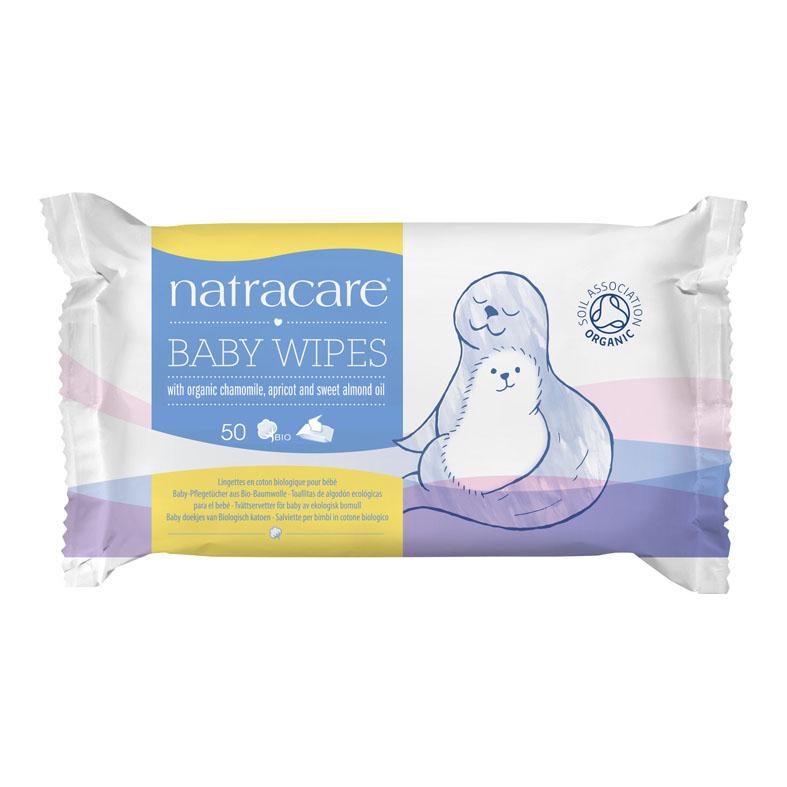 Natracare 0112 baby wipes 50 stk