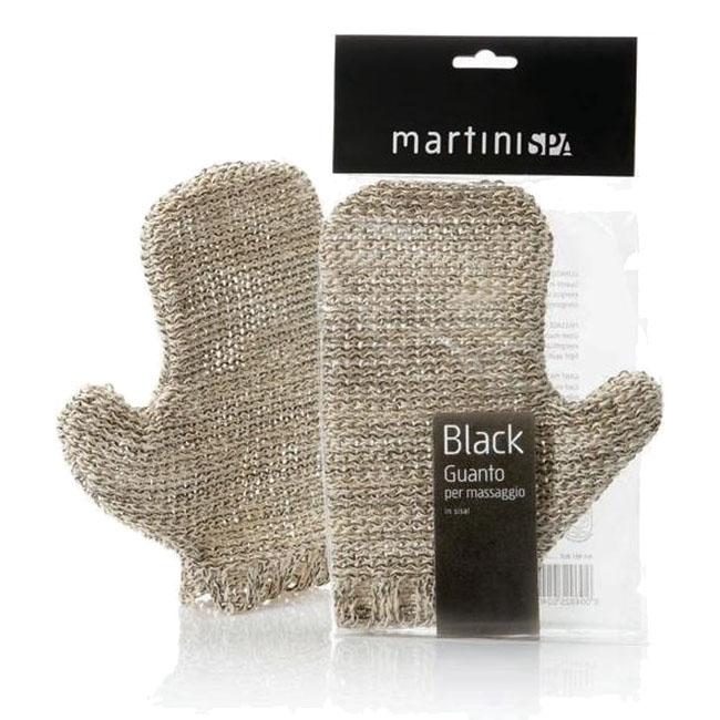 Martini Spa massage natural peeling glove black