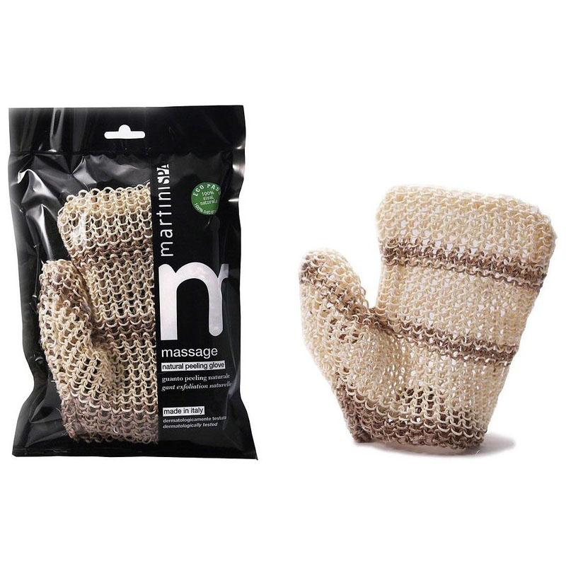 Martini Spa massage natural peeling glove white
