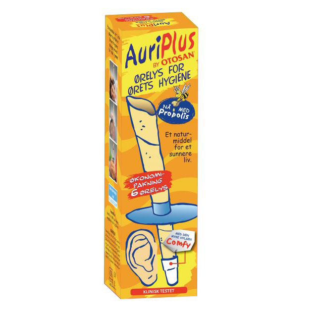 Auriplus ørelys 3pk 6 stk