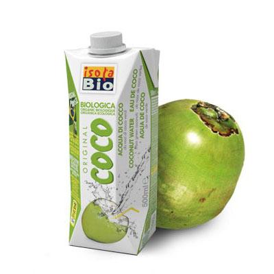 Isola Bio kokosvann 500 ml øko