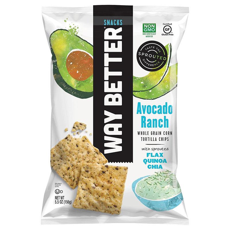 Way Better spiret tortilla chips med avocado ranch 156 gr