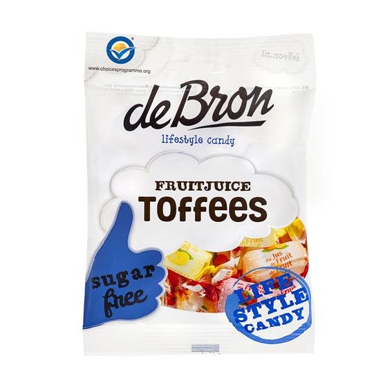 Debron fruitjuice toffees sukkerfri 90 gr