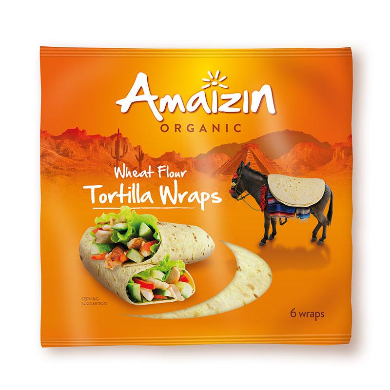 Amaizin tortillawraps 6 stk 240 gr øko