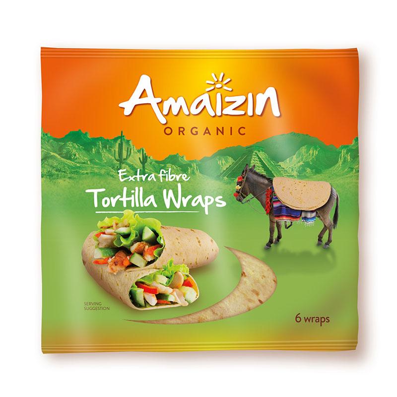 Amaizin tortillawraps fullkorn 6 stk 240 gr øko