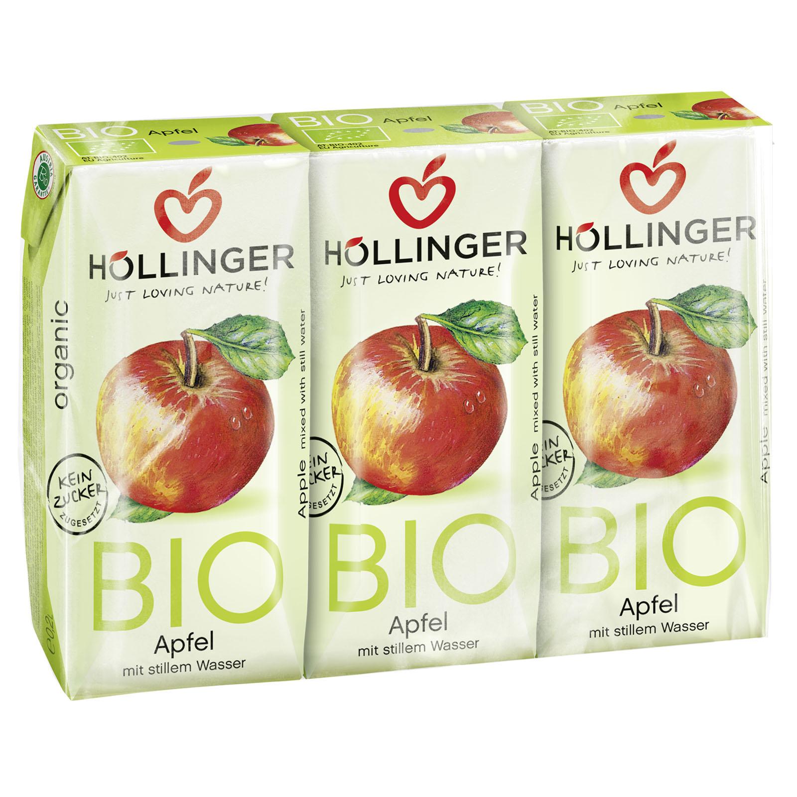 Höllinger eplejuice 3 x 200 ml øko
