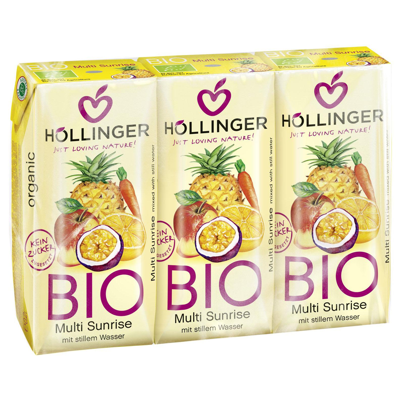 Höllinger multi fruktjuice 3 x 200 ml øko