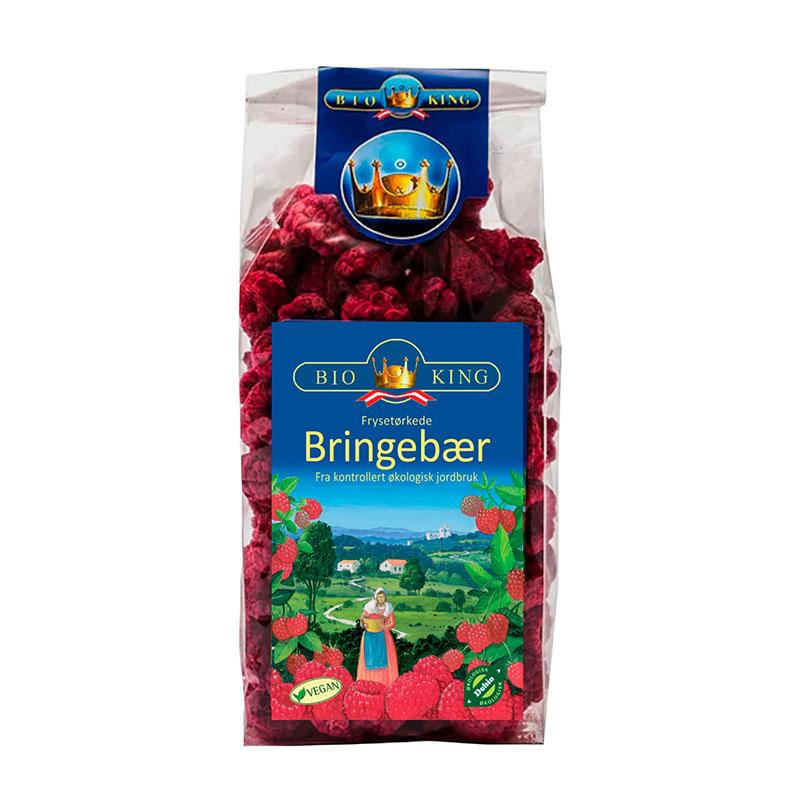 Bio-King frysetørret bringebær 40 gr øko