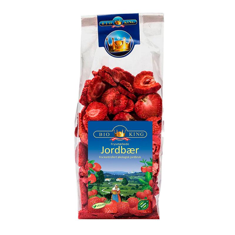 Bio-King frysetørret jordbær 40 gr øko