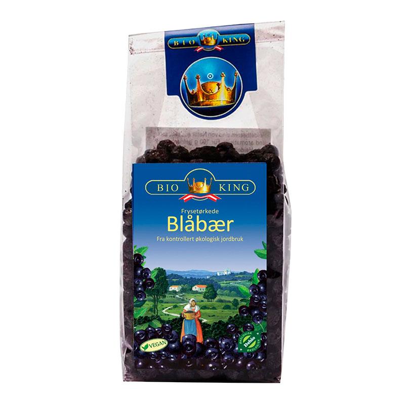 Bio-King frysetørret blåbær 40 gr øko
