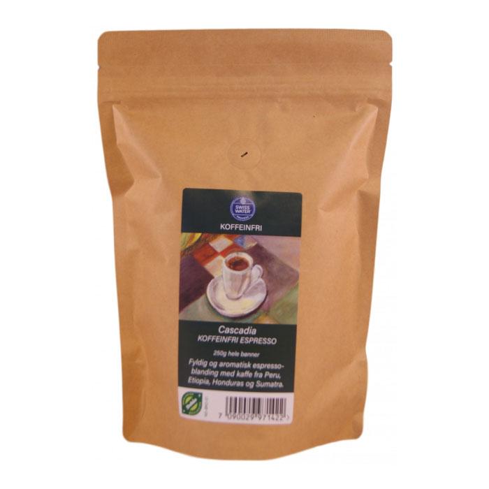 Kaffe koffeinfri espresso/kaffe 250 gr øko