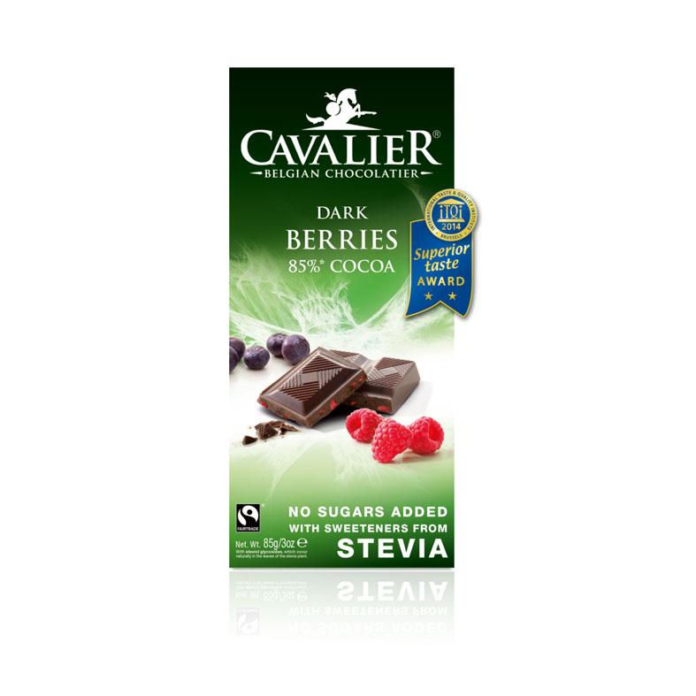 Cavalier stevia dark berries 85% cocoa 85 gr