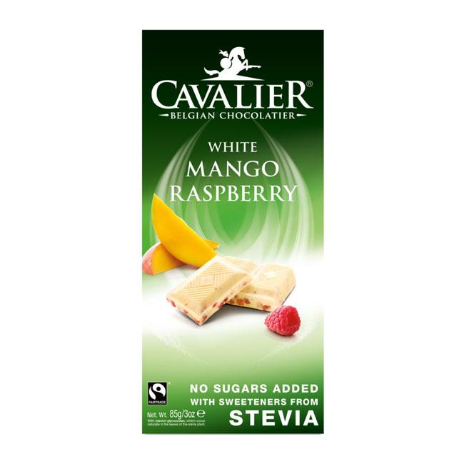 Cavalier stevia white chocolate mango raspberry 85 gr