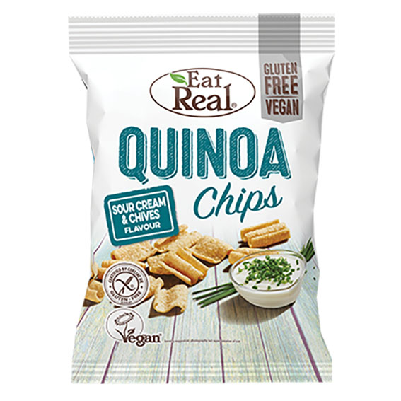 Eat Real quinoa chips sour cream and chives 80 gr